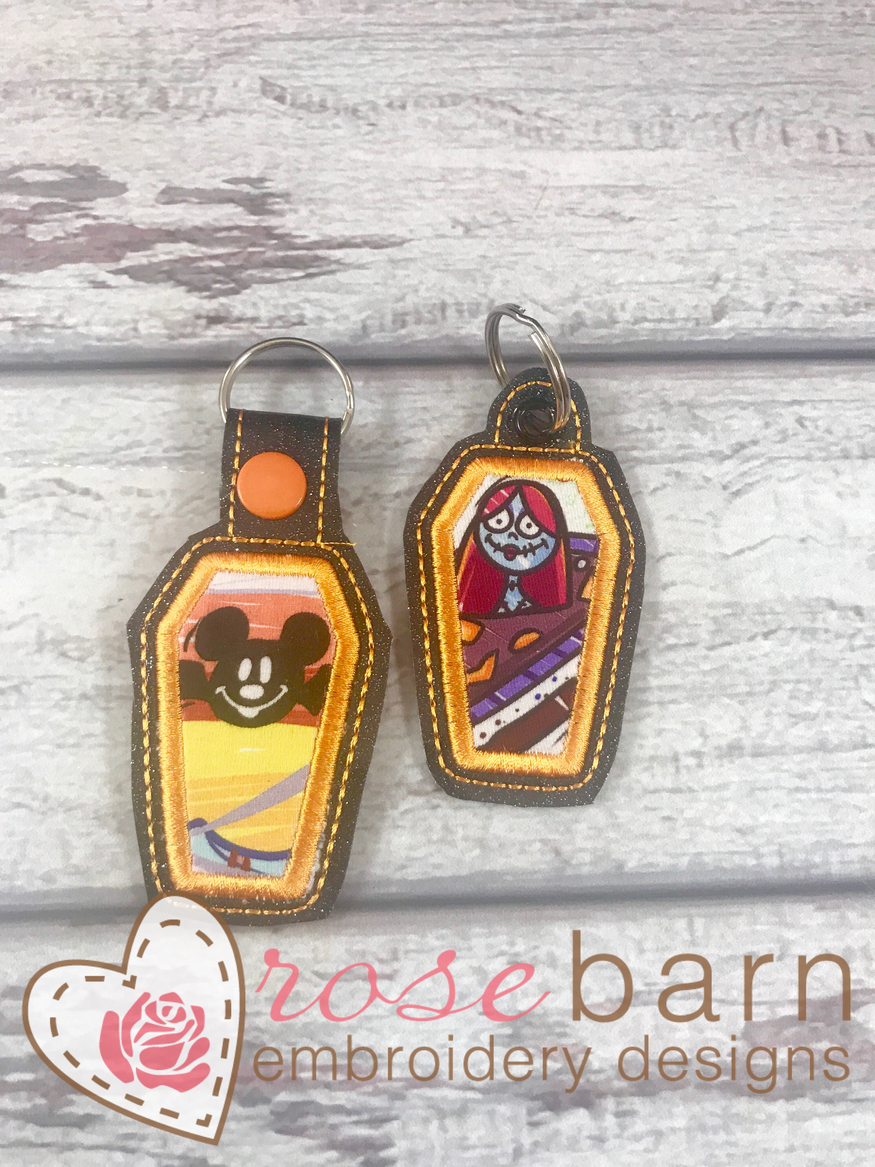 Coffin Applique Key Fob