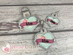 Mom Heart Key Fob and Pull