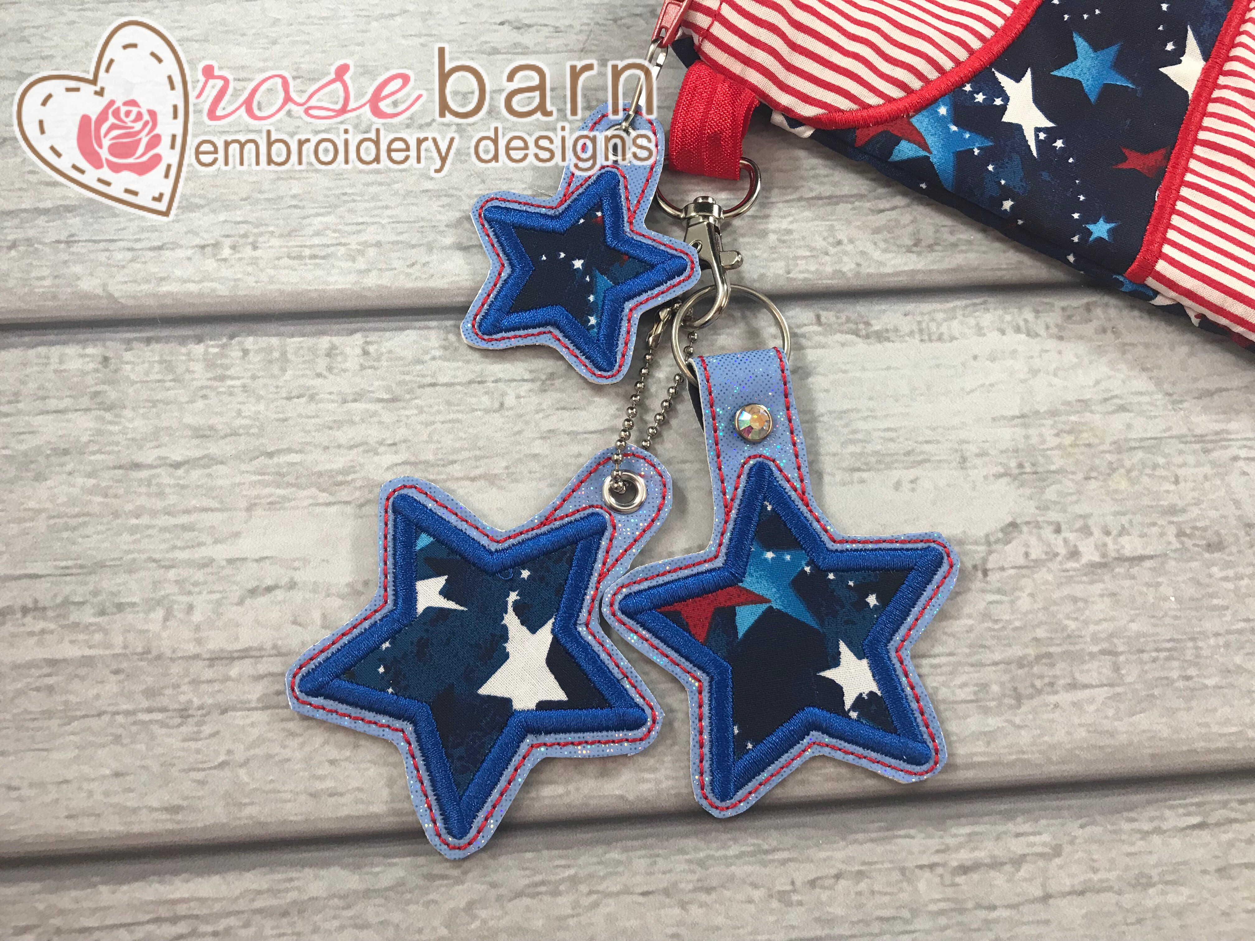 Star Applique Key Fob and pull