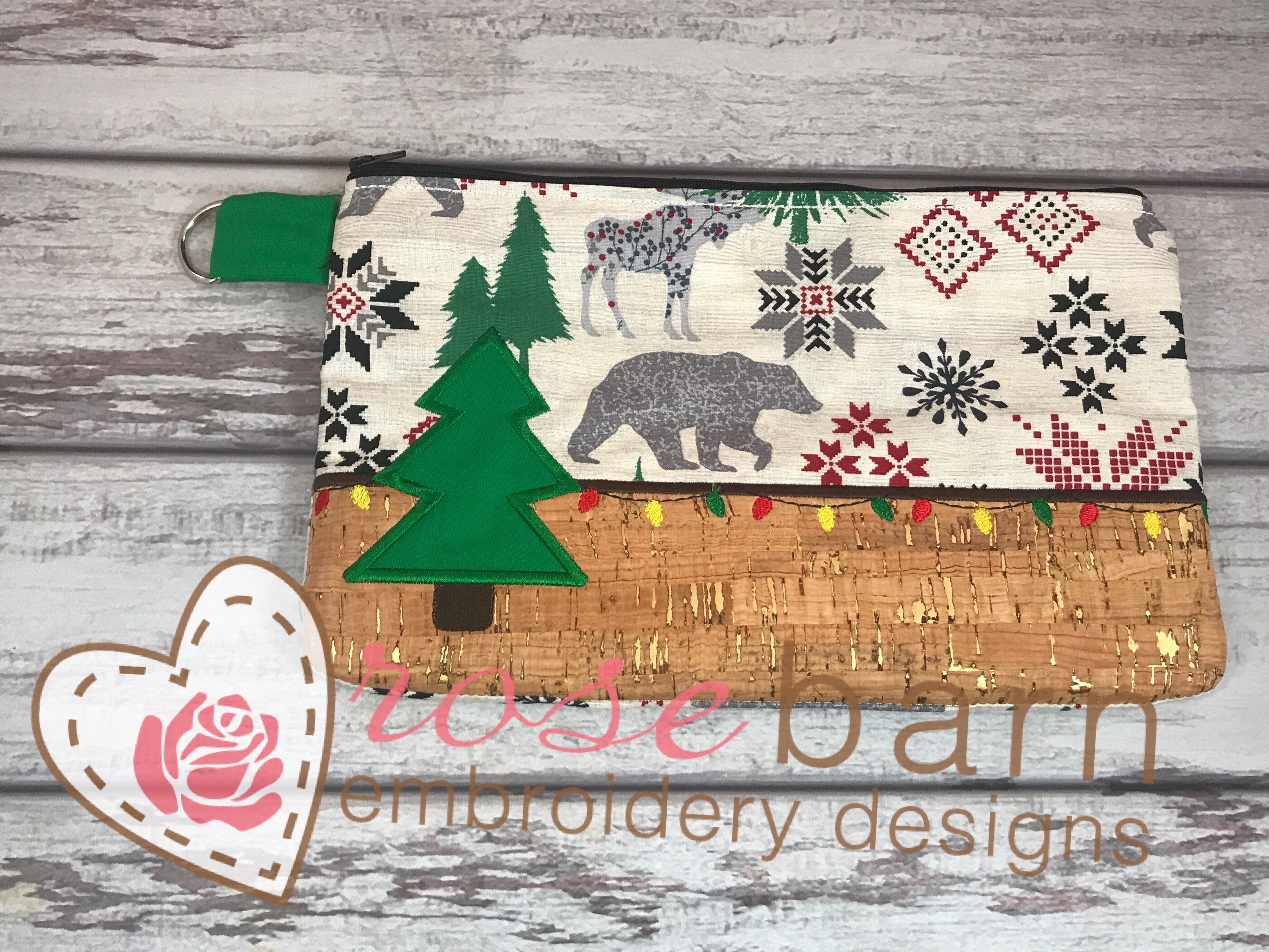 Tree Zipper Clutch Bag