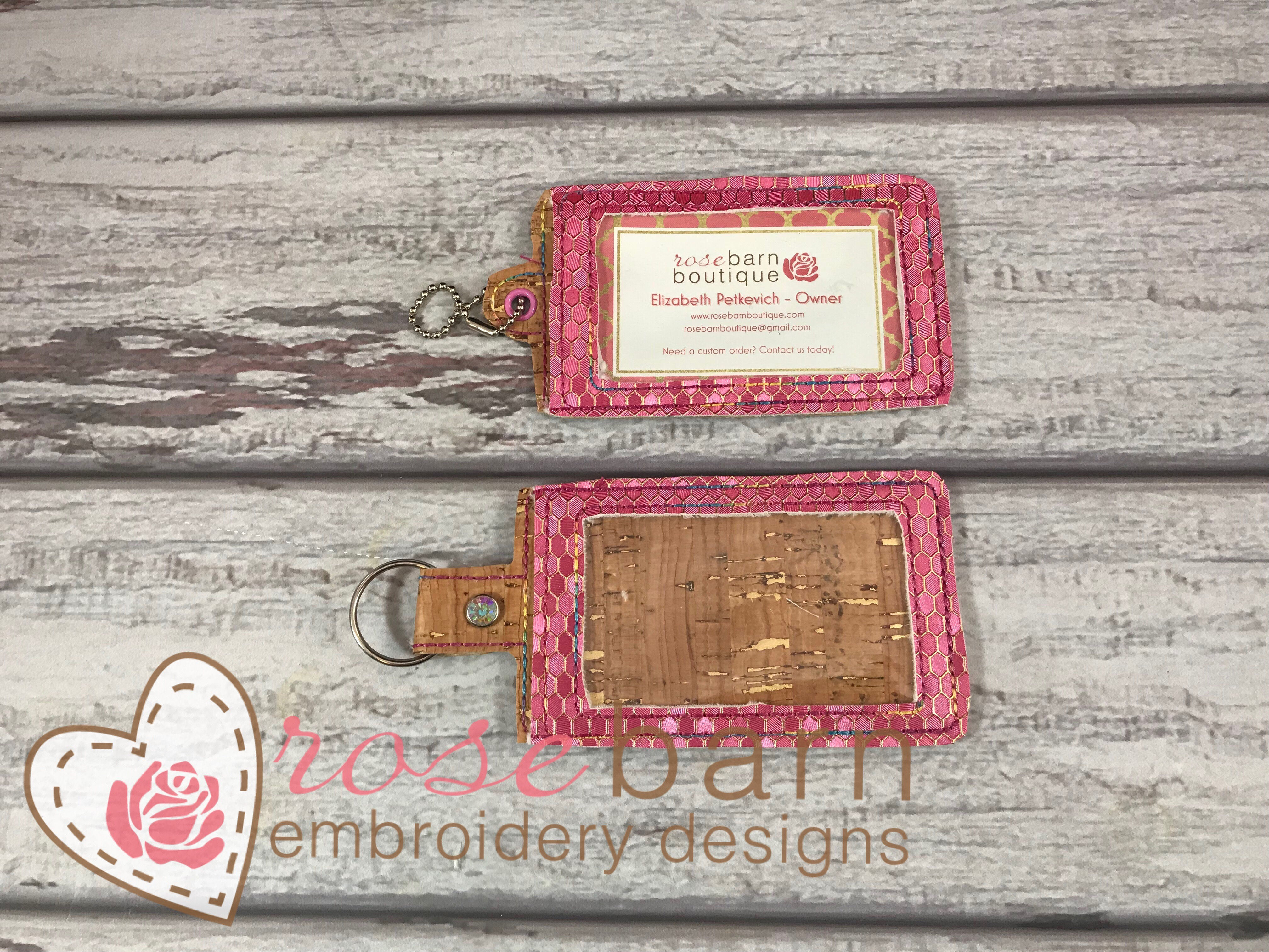 Card Holder Key Fob (5x7 or larger)
