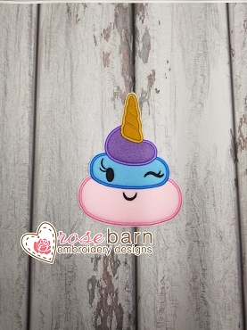 Unicorn Poop Applique