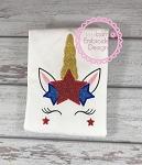 Star Unicorn Applique
