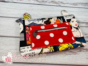 Applique Clutch Bag 5z