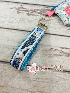 Applique Fabric Key Fob
