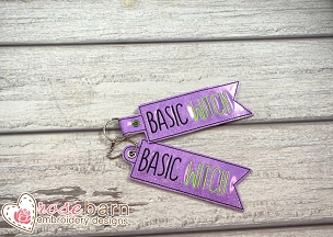 Basic Witch Key Fob (5x7 or larger)