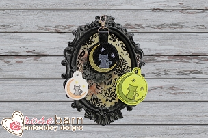Cat Moon Key Fob