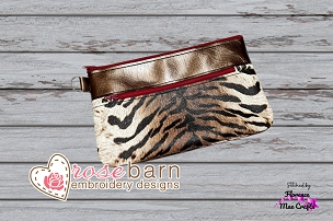 Classic Double Clutch Zipper Bag