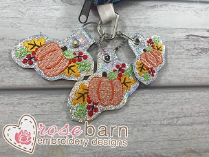 Fall Pumpkin Key Fob