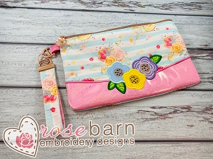 Floral Clutch Zipper bag 5z