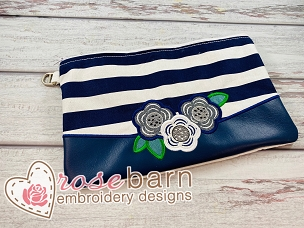 Floral Clutch Zipper Bag