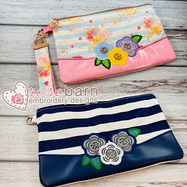 Floral Clutch Zipper Bag Bundle