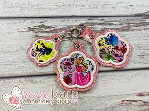 Flower Applique Key Fob