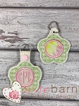 Flower Monogram Key Fob