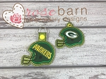 Football Helmet Applique Key Fob
