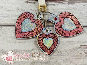 Gem Heart Key Fob