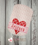 Heart Burp Cloth (8x12 Only)