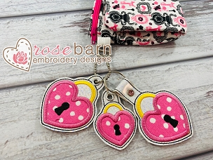 Heart Lock Key Fob
