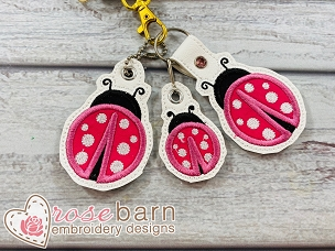Lady Bug Key Fob