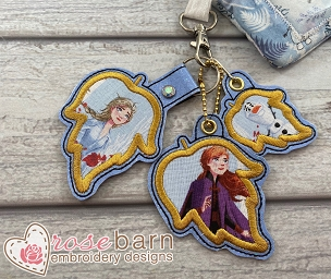Leaf Applique Key Fob and Pull