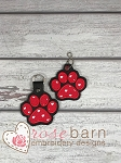 Paw Print Applique Key fob