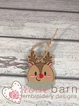 Reindeer ITH Ornament