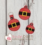 Santa Belt Key Fob and Zipper Pull