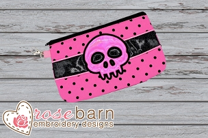 Skull Clutch Zipper Bag