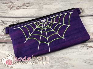 Spider Clutch Zipper Bag