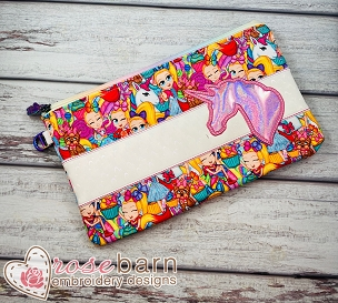 Unicorn Clutch Zipper Bag 5z