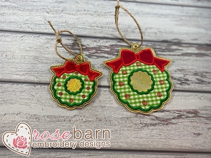 Wreath Applique Ornament