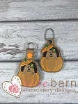 Pumpkin Hedgehog Key Fob