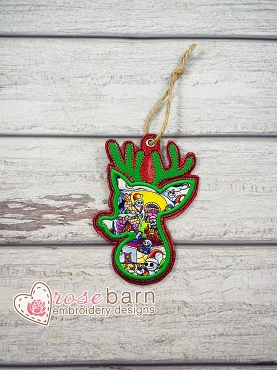 Reindeer Applique Ornament