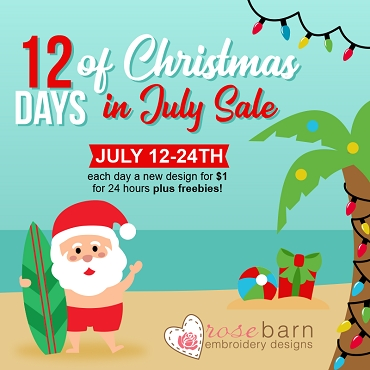 12 days of Christmas in July 2020