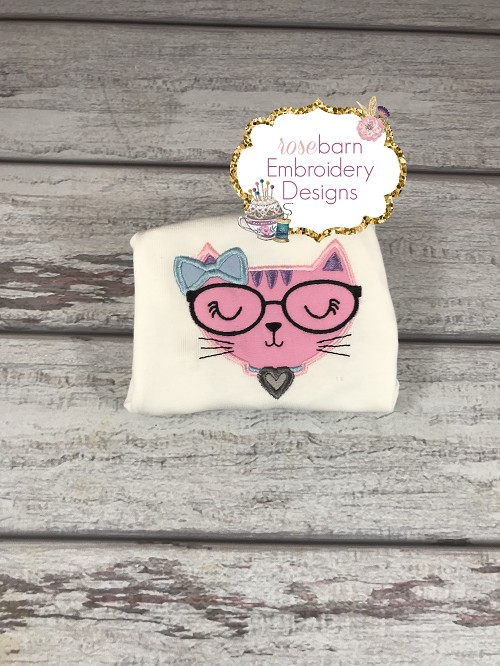 Geeky Cat Applique