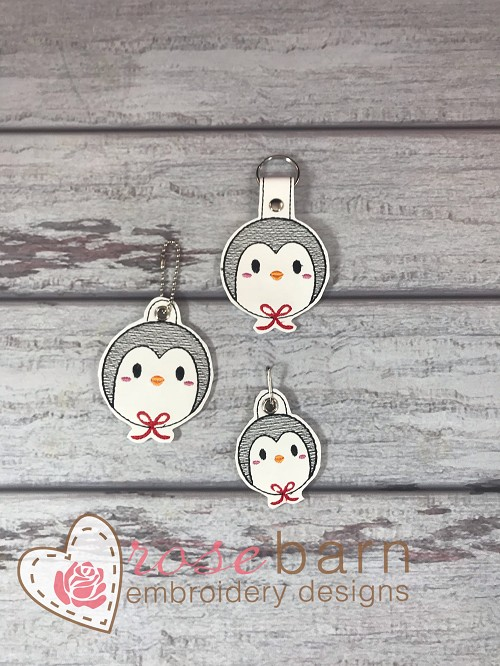 Penguin Ornament Key fob and Pull
