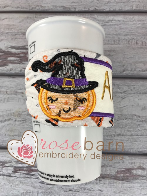 Pumpkin Witch Mug Wrap