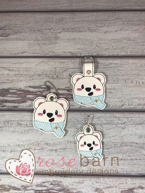 Teddy Bear Key Fob and Pull
