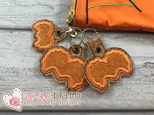 Witch 2 Applique Key Fob and Pull
