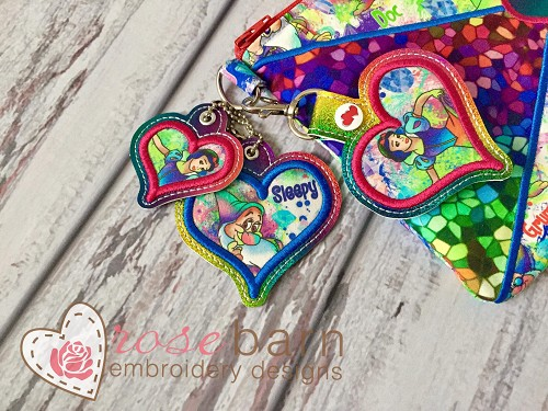 Heart Applique Keyfob -2